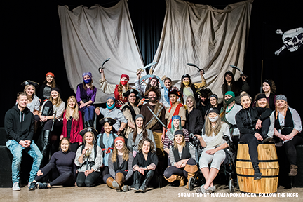 Education students perform Pirates! The Musical