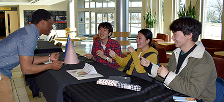 Korean students teach traditional games to MHC recruiter